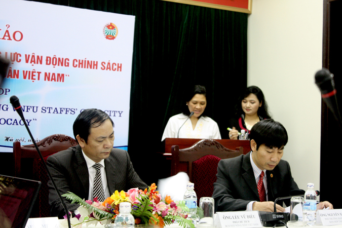 "Project Start-up Workshop for ""Building Policy Advocacy Capacity for Vietnam Farmer's Union staffs"