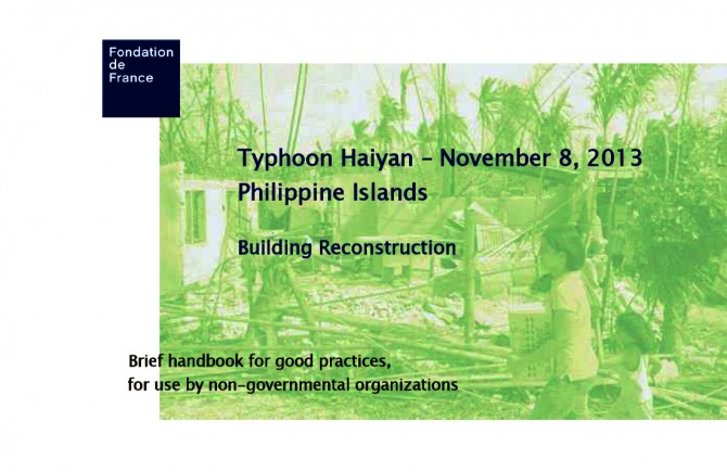 Solidarity withe The Philippines - Solidarity with The Philippines -Brief handbook for building reconstruction
